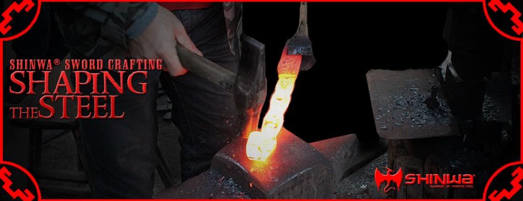 shaping a Damascus steel katana blade