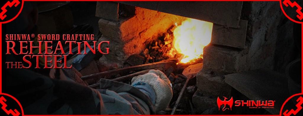 forging a Damascus steel katana sword blade